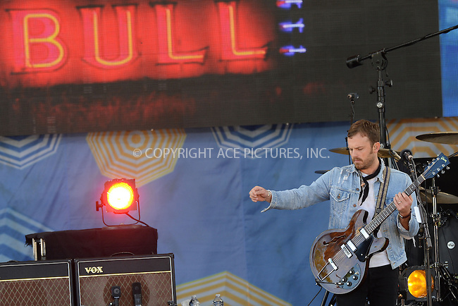 WWW.ACEPIXS.COM<br /> July 25, 2014 New York City<br /> <br /> King of Leon performing on ABC's 'Good Morning America' at Rumsey Playfield on GMA on July 25, 2014 in New York City.<br /> <br /> Please byline: Kristin Callahan/AcePictures<br /> <br /> ACEPIXS.COM<br /> <br /> Tel: (212) 243 8787 or (646) 769 0430<br /> e-mail: info@acepixs.com<br /> web: http://www.acepixs.com
