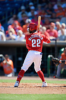 Philadelphia Phillies left fielder Andrew McCutchen (22) at bat during a Grapefruit League Spring Training game against the Baltimore Orioles on February 28, 2019 at Spectrum Field in Clearwater, Florida.  Orioles tied the Phillies 5-5.  (Mike Janes/Four Seam Images)