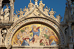 Front of Saint Marks Basilica -Ascension  of Christ Mosaic- Venice - Italy