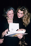 Brooke Shields and mom Teri Shields photographed in New York City, 1989..