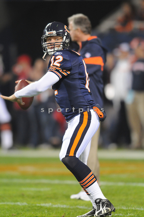 CALEB HANIE, of the Chicago Bears, in action during the Bears game against the Philadelphia Eagles on November 22, 2009 in Chicago, IL.  Eagles won 24-20