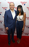 Danny Burstein and Nicolette Robinson attends Broadway Salutes 10 Years - 2009-2018 at Sardi's on November 13, 2018 in New York City.