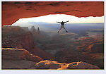 Photoshop. This visitor was jumping up and down on top of the arch. <br />
