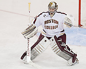 Parker Milner (BC - 35) - The University of Massachusetts Lowell River Hawks defeated the Boston College Eagles 4-2 (EN) on Tuesday, February 26, 2013, at Kelley Rink in Conte Forum in Chestnut Hill, Massachusetts.