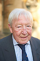 Sandy Gall, broadcaster  and writer  at The Oxford Literary Festival at Christchurch College Oxford  . Credit Geraint Lewis