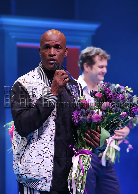 Kenny Leon during the Broadway opening night performance Curtain Call for 'Children of a Lesser God' at Studio 54 Theatre on April 11, 2018 in New York City.