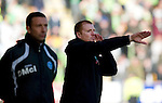 St Johnstone v Celtic..30.10.10  .Neil Lennon and Derek McInnes.Picture by Graeme Hart..Copyright Perthshire Picture Agency.Tel: 01738 623350  Mobile: 07990 594431