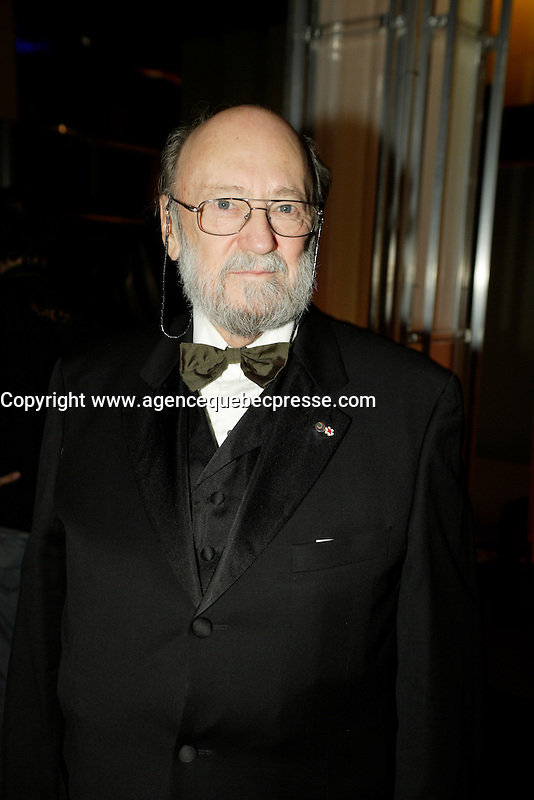 Montreal (Qc) CANADA - March 29 2009 - Jutras award  Gala (for Quebec Cinema) :  Rock Demers