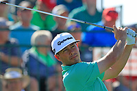 Chez Reavie (USA) tees off the 1st tee during Saturday's Round 3 of the Waste Management Phoenix Open 2018 held on the TPC Scottsdale Stadium Course, Scottsdale, Arizona, USA. 3rd February 2018.<br /> Picture: Eoin Clarke | Golffile<br /> <br /> <br /> All photos usage must carry mandatory copyright credit (&copy; Golffile | Eoin Clarke)