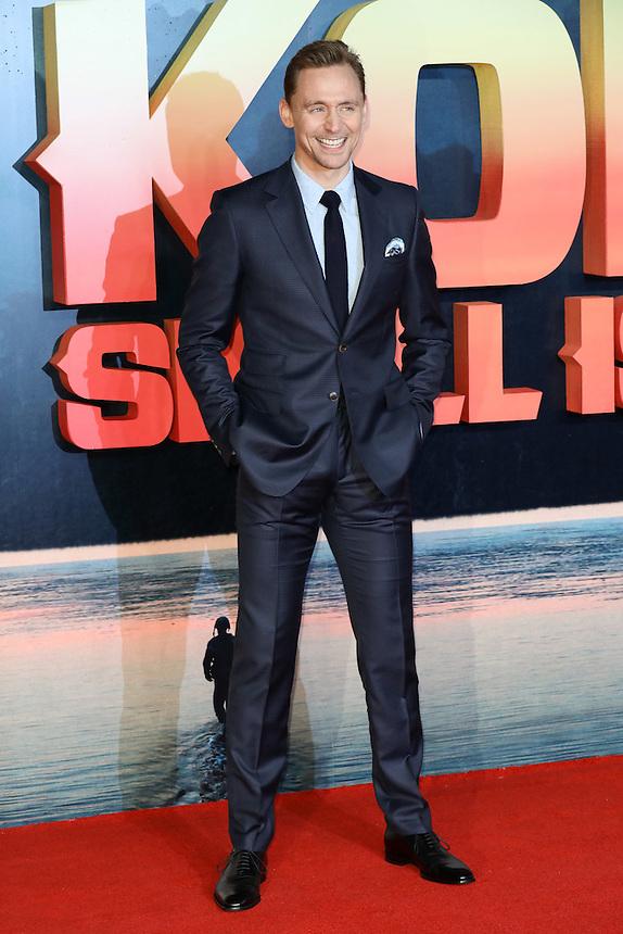 "Tom Hiddlestone<br /> arrives for the ""Kong: Skull Island"" premiere, Empire Leicester Square, London.<br /> <br /> <br /> ©Ash Knotek  D3235  28/02/2017"