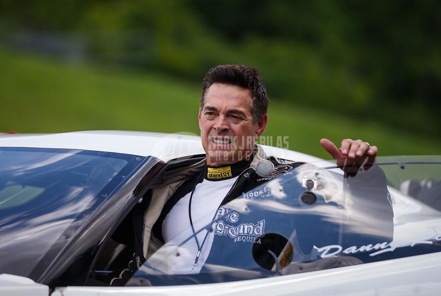 Jun 17, 2017; Bristol, TN, USA; NHRA pro mod driver Danny Rowe during qualifying for the Thunder Valley Nationals at Bristol Dragway. Mandatory Credit: Mark J. Rebilas-USA TODAY Sports