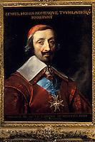 Europe/France/Auverne/63/Puy-de-Dôme/Env. de Courpière: Le château d'Aulteribe - Portrait du cardinal Richelieu par Champeigne