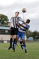 Said Ali of Ilford and Joe Boreham-Knight of Harwich during Ilford vs Harwich & Parkeston, Emirates FA Cup Football at Cricklefields Stadium on 10th August 2019