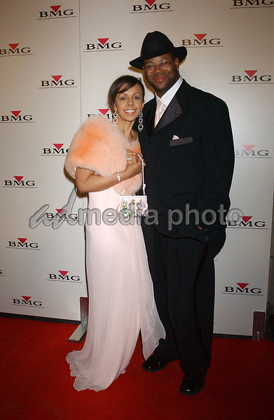 Feb. 8, 2004; Hollywood, CA, USA; Singer JIMMY JAM and wife Lisa during the BMG 46th Annual Grammy Awards Post-Grammy Gala Celebration held at The Avalon. Mandatory Credit: Photo by Laura Farr/AdMedia. (©) Copyright 2003 by Laura Farr
