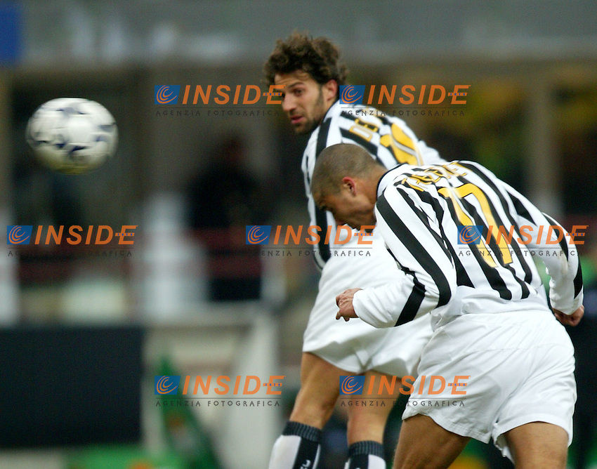 Milano 12/2/2004 Coppa Italia - Italy Cup - Semifinale <br /> Inter - Juventus 2-2 (6-7 after penalties) <br /> David Trezeguet and Alessandro Del Piero (Juventus)<br /> Photo Andrea Staccioli Insidefoto