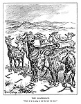 """The Scapegoats. """"Which of us is going to lead the herd this time?"""" (the goats of Libya: Inferior Guns, False Optimism, Weak Armour, Mistaken Tactics and No Dive-Bombers)"""