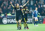 Stockholm 2015-05-25 Fotboll Allsvenskan Djurg&aring;rdens IF - AIK :  <br /> AIK:s Nils-Eric Johansson firar sitt 1-0 m&aring;l under matchen mellan Djurg&aring;rdens IF och AIK <br /> (Foto: Kenta J&ouml;nsson) Nyckelord:  Fotboll Allsvenskan Djurg&aring;rden DIF Tele2 Arena AIK Gnaget jubel gl&auml;dje lycka glad happy