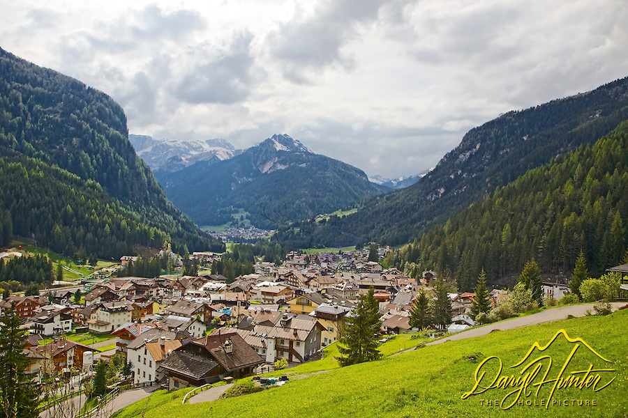 Canazei, Italy, Dolomite Mountains,  Trento, Italy. Another perfect German alpine village.