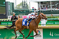 LOUISVILLE, KY - MAY 04: Mia Mischief #3, ridden by Ricardo Santana Jr wins the Eight Belles an undercard race on Kentucky Oaks Day at Churchill Downs on May 4, 2018 in Louisville, Kentucky. (Photo by Sue Kawczynski/Eclipse Sportswire/Getty Images)