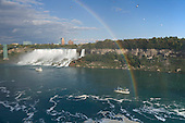 Rainbow at American Falls viewed from Canada