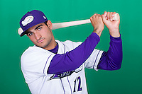 Winston-Salem Dash third baseman Nick Basto (12) poses for photos during Media Day at BB&T Ballpark on April 1, 2014 in Winston-Salem, North Carolina (Brian Westerholt/Four Seam Images)