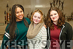 """Panto 2016: Pictured at The transition year's production  of St. Joseph's Secondary school , Ballybunion who took part in the school's panto """" Snow White and the 71/2 Ugly Sisters"""" at the Tintean Theatre, Ballybunion on Friday night last were Laia Riera, Lorna O'leary & Arwen Beattig."""