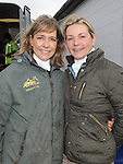 Louise Boylan and Paula Finnegan pictured at the Louth Hunt. Photo: Colin Bell/pressphotos.ie
