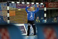 Handball Frauen / Damen  / women 1. Bundesliga - DHB - HC Leipzig : Frankfurter HC - im Bild: HCL Torfrau / Keeperin / Torhüterin Katja Schülke (Schuelke). Porträt . Foto: Norman Rembarz .