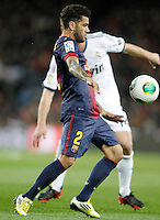 FC Barcelona's Daniel Alves during Copa del Rey - King's Cup semifinal second match.February 26,2013. (ALTERPHOTOS/Acero) /Nortephoto