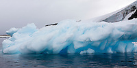 Blue ice abounds near the Antarctic Peninsula