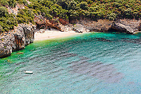 The beach Mega Drafi in Syvota, Greece
