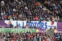 The eteach stand with adverts from J&J Motors and Peters Pies during the Premier League match between Swansea City and Huddersfield Town at The Liberty Stadium, Swansea, Wales, UK. Saturday 16 October 2017