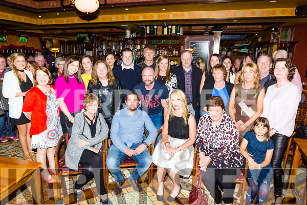 Keith O'Leary Ballydribbeen Killarney and Elaine O'Connell Gneeveguilla who celebrated their engagement with their family and friends in the Killarney Avenue on Friday night