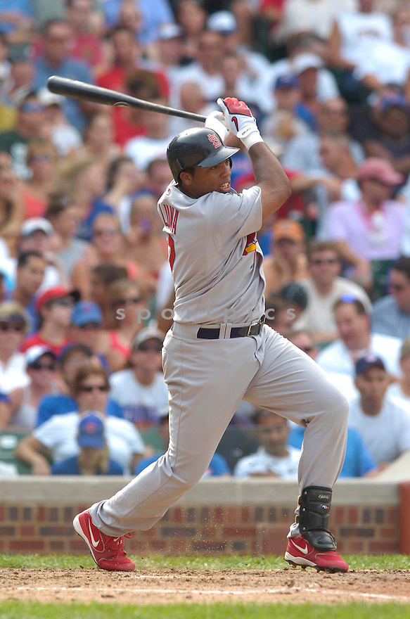 Hector Luna, of the St. Louis Cardinals , in aciton against the Chicago Cubs on July 28, 2006in Chicago...Cubs win 6-5..Chris Bernachhi / SportPics