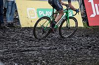 Tim Merlier (BEL/Crelan Charles) rides the mud.<br /> <br /> cx Telenet Superprestige Gieten 2017 (NED)