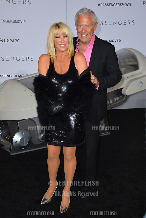 Actress Suzanne Somers &amp; husband actor Alan Hamel at the world premiere of &quot;Passengers&quot; at the Regency Village Theatre, Westwood. <br /> December 14, 2016<br /> Picture: Paul Smith/Featureflash/SilverHub 0208 004 5359/ 07711 972644 Editors@silverhubmedia.com