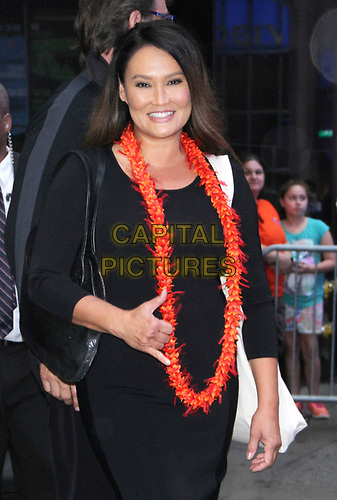 NEW YORK, NY - October 08: Tia Carrere at Good Morning America promoting Cooking Hawaiian Style on October 08, 2018 in New York City. <br /> CAP/MPI/RW<br /> ©RW/MPI/Capital Pictures
