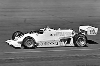 Bobby Rahal drives a March 82C Cosworth in his first IndyCar race, the 1982 CART event at Phoenix International Raceway.