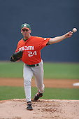 Scott Maine of the Miami Hurricanes vs. the Virginia Cavaliers: March 24th, 2007 at Davenport Field in Charlottesville, VA.  Photo copyright Mike Janes Photography 2007.