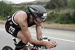OCEANSIDE, CA- APRIL 2:  Winner Andy Potts of the USA rides his bike during the Rohto Ironman 70.3 California in Oceanside, California on April 2, 2011. (Photo by Donald Miralle for LAVA Magazine) *** Local Caption ***