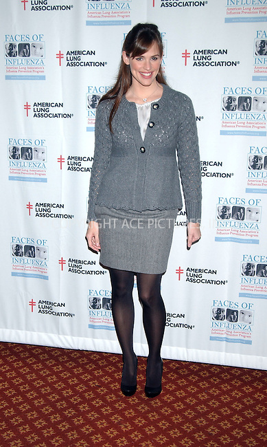 WWW.ACEPIXS.COM . . . . . ....November 12 2007, New York City....Jennifer Garner spoke at The American Lung Association's Faces of Influenza press conference to promote flu shots at Gotham Hall....Please byline: KRISTIN CALLAHAN - ACEPIXS.COM.. . . . . . ..Ace Pictures, Inc:  ..(646) 769 0430..e-mail: info@acepixs.com..web: http://www.acepixs.com