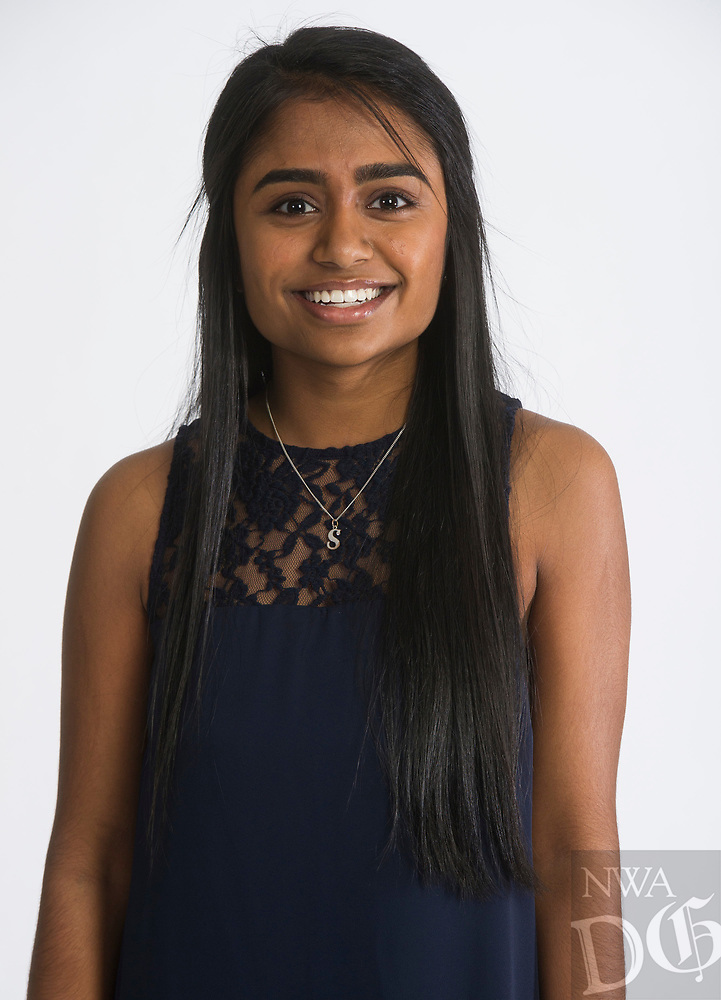 NWA Democrat-Gazette/ANTHONY REYES @NWATONYR<br /> Shreya Majagi of Rogers High School is one of the 2017 Academic All-Star Team Thursday, May 4, 2017 at the Northwest Arkansas Democrat-Gazette office in Springdale.