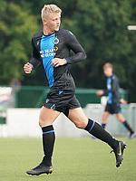 20191005: OUD HEVERLEE: OHL's Club Brugge's are pictured during the Belgian Elite Youth U18 league competition between Oud Heverlee Leuven U18 and Club Brugge U18 on 05th October 2019 at Korbeekdamstraat, Oud-Heverlee, Belgium PHOTO SPORTPIX.BE | SEVIL OKTEM