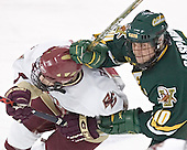 Pat Gannon, Joey Gasparini - The Boston College Eagles completed a shutout sweep of the University of Vermont Catamounts on Saturday, January 21, 2006 by defeating Vermont 3-0 at Conte Forum in Chestnut Hill, MA.