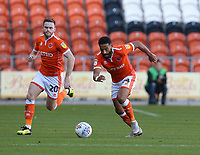 Blackpool's Oliver Turton and Liam Feeney<br /> <br /> Photographer Stephen White/CameraSport<br /> <br /> The EFL Sky Bet League One - Blackpool v Rochdale - Saturday 6th October 2018 - Bloomfield Road - Blackpool<br /> <br /> World Copyright &copy; 2018 CameraSport. All rights reserved. 43 Linden Ave. Countesthorpe. Leicester. England. LE8 5PG - Tel: +44 (0) 116 277 4147 - admin@camerasport.com - www.camerasport.com