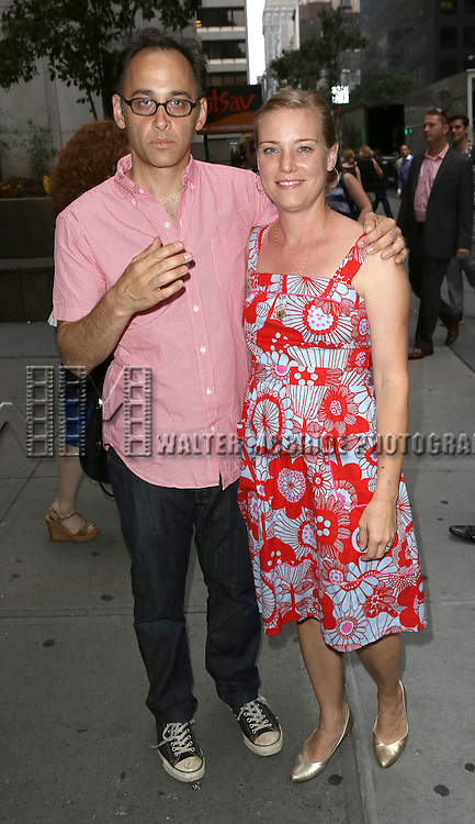 David Wain & Zandy Wain attend 'The Unavoidable Disappearance Of Tom Durnin' Opening Night at Laura Pels Theatre on June 27, 2013 in New York City.