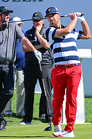 Kevin Chappell (USA) prepares to tee off before round 4 Singles of the 2017 President's Cup, Liberty National Golf Club, Jersey City, New Jersey, USA. 10/1/2017. <br /> Picture: Golffile | Ken Murray<br /> <br /> All photo usage must carry mandatory copyright credit (&copy; Golffile | Ken Murray)
