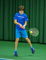 Rotterdam, The Netherlands, March 13, 2016,  TV Victoria, NOJK 12/16 years, Luka Novakovic (NED)<br /> Photo: Tennisimages/Henk Koster