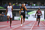 EUGENE, OR - JUNE 8: Michael Norman of the USC Trojans races to victory in the 400 meter run during the Division I Men's Outdoor Track & Field Championship held at Hayward Field on June 8, 2018 in Eugene, Oregon. (Photo by Jamie Schwaberow/NCAA Photos via Getty Images)
