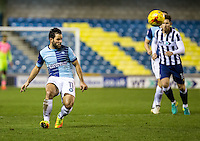 Sam Wood of Wycombe Wanderers during the Checkatrade Trophy round two Southern Section match between Millwall and Wycombe Wanderers at The Den, London, England on the 7th December 2016. Photo by Liam McAvoy.